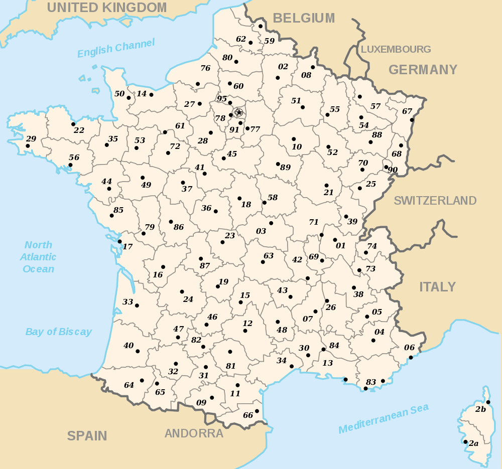 Map Of France Departments.O Regions Of France Departments Of France O